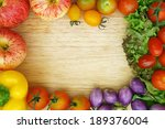 healthy organic vegetables on a ... | Shutterstock . vector #189376004