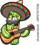 mexican cactus playing guitar... | Shutterstock .eps vector #1893767536