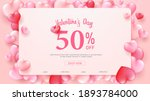 happy valentine's day greeting...   Shutterstock .eps vector #1893784000