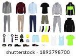 men clothes colletction. men's... | Shutterstock .eps vector #1893798700