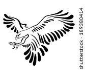 falcon attack. black...   Shutterstock .eps vector #189380414