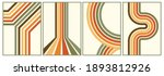 retro vintage 70s style stripes ... | Shutterstock .eps vector #1893812926