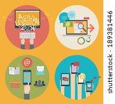 vector set of flat design icons ... | Shutterstock .eps vector #189381446