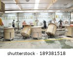 ceramic products in the workshop | Shutterstock . vector #189381518