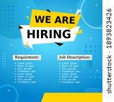 job vacancy templates. we are... | Shutterstock .eps vector #1893823426