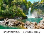 Waterfalls Cascading In The...