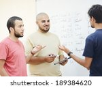 arabic students posing at campus | Shutterstock . vector #189384620