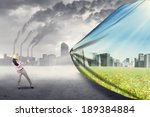 engineer try to save... | Shutterstock . vector #189384884