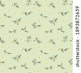 seamless plant pattern with...   Shutterstock .eps vector #1893872659