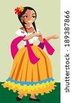 mexican girl. vector... | Shutterstock .eps vector #189387866
