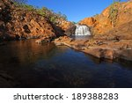 Small waterfall and pool with clear water, Kakadu National Park, Australia