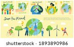 earth day concept. human hands... | Shutterstock .eps vector #1893890986