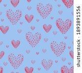 red heart  dots seamless... | Shutterstock . vector #1893891556