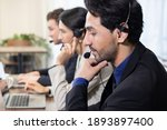 side view of telemarketing... | Shutterstock . vector #1893897400