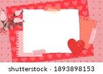scrapbook composition with... | Shutterstock .eps vector #1893898153