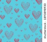 red heart  dots seamless... | Shutterstock . vector #1893898930