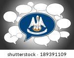 communication concept   speech... | Shutterstock . vector #189391109