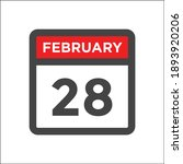 red and black calendar icon w...   Shutterstock .eps vector #1893920206