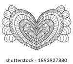 valentine day ornamental heart... | Shutterstock .eps vector #1893927880