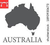 map of australia glyph icon ...   Shutterstock .eps vector #1893930673