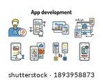 app development black line...