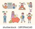 savings  finance character set. ... | Shutterstock .eps vector #1893966160