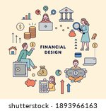 financial icon set. bank and... | Shutterstock .eps vector #1893966163
