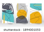 watercolor effect design cover. ... | Shutterstock .eps vector #1894001053