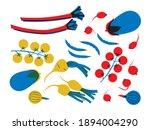 vegetables set cartoon flat... | Shutterstock .eps vector #1894004290