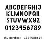 Hand Drawn Stencil Alphabet And ...
