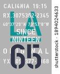 La Text Typography Vector...