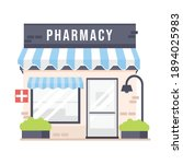 cute cartoon pharmacy store ... | Shutterstock .eps vector #1894025983