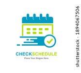 calendar check mark vector logo ... | Shutterstock .eps vector #1894067506