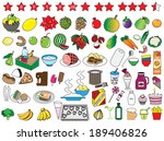food and kitchen icons... | Shutterstock .eps vector #189406826