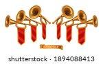 gold fanfare. 3d vector... | Shutterstock .eps vector #1894088413