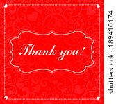 thank you calligraphy text on a ... | Shutterstock .eps vector #189410174