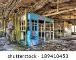 Dilapidated Office Booth In An...