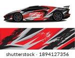 sport car decal wrap design... | Shutterstock .eps vector #1894127356