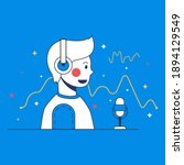 voice tracking vector... | Shutterstock .eps vector #1894129549