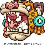 aztec jaguar warrior with angry ... | Shutterstock .eps vector #1894147429