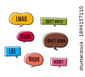 set of pop art speech colored...   Shutterstock .eps vector #1894157110