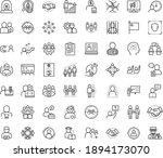 thin outline vector icon set... | Shutterstock .eps vector #1894173070