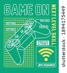 game on. gamer. joystick  boys... | Shutterstock .eps vector #1894175449