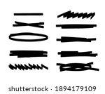 set of bold underline and black ...   Shutterstock .eps vector #1894179109