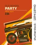 retro party poster with ghetto... | Shutterstock .eps vector #189418940