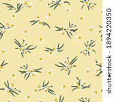 seamless plant pattern with...   Shutterstock .eps vector #1894220350