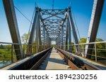 Metal Railroad Bridge In The...