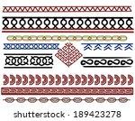 set of viking pattern designs | Shutterstock . vector #189423278