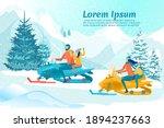 funny family race on... | Shutterstock .eps vector #1894237663