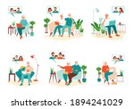 senior people communicate with... | Shutterstock .eps vector #1894241029
